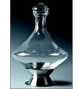 Enlarge Orbital Wine Decanter w/ Brushed Stainless Steel Base & Crystal Stopper