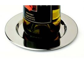Enlarge Stainless Steel Pratique Wine Bottle Coasters