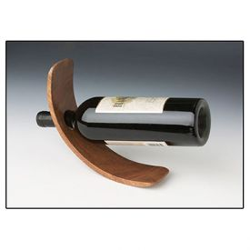 Enlarge Curved Single Bottle Wood Wine Stand