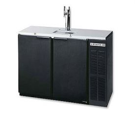 Enlarge Beverage-Air DD48Y-1-B Two Keg Commercial Kegerator - Black Vinyl