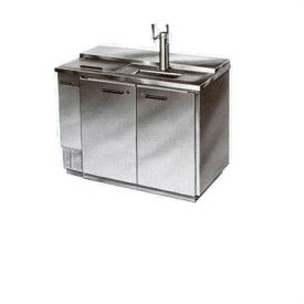 Enlarge Beverage-Air Kegerator DD50C-1-S-CLUB Club Top 2-Keg Beer Cooler - All Stainless