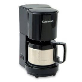 Enlarge Cuisinart DCC-450BK 4-Cup Coffeemaker w/ Stainless Steel Carafe - Black