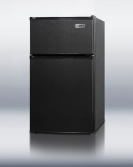 Enlarge Summit CP35B 2.9 c.f. Two Door Compact Refrigerator Freezer - Black
