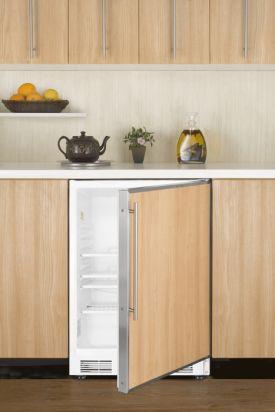 Enlarge Summit ALB751 ADA All Refrigerator - White / Stainless Steel Frame Door & Handle