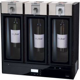 Enlarge skybar WP1100-000-000 THREE Wine Preservation System, Black Wood Finish