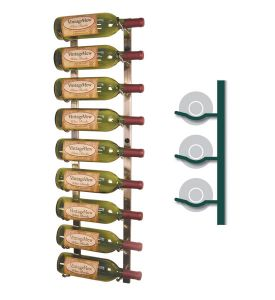Enlarge Vintage View WS31-P - 9 Bottle Vintage View Wine Rack - Platinum Series Finish