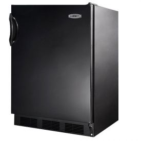 Enlarge Open Box Return - Summit AL652B ADA Compliant Refrigerator Freezer - Black Cabinet & Door