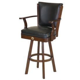 Enlarge Anheiuser Busch Budweiser® Bowtie Bar Stool w/ Backrest - AB-53110