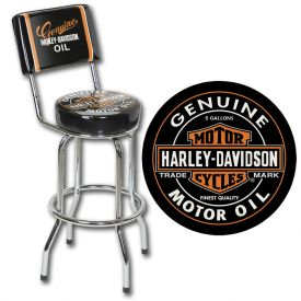 Enlarge Harley-Davidson� HDL-12203 - Oil Can Barstool
