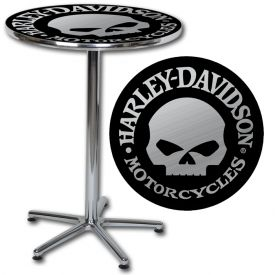 Enlarge Harley-Davidson� HDL-12312 - H-D Skull Cafe Table
