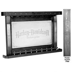 Enlarge Harley-Davidson® Bar & Shield Flames Back Bar - Vintage Black - HDL-13400-V