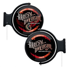 Enlarge Harley-Davidson� HDL-15620 - Winged Wheel Rotating Pub Light