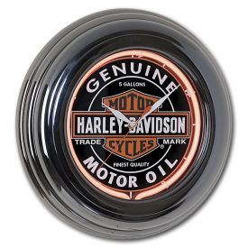 Enlarge Harley-Davidson HDL-16617 - Oil Can Neon Clock