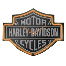 Enlarge Harley-Davidson HDL-16651 - Etched B&S Shaped Neon Clock