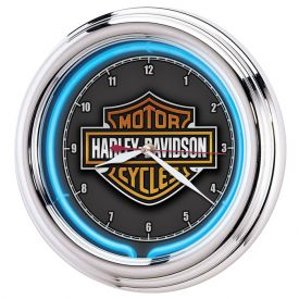 Enlarge Harley-Davidson� HDL-16675 - Essential Bar & Shield Neon Clock