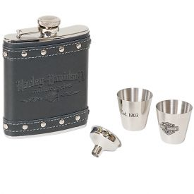 Enlarge Harley Davidson� HDL-18505 - Motorcycles Flask Gift Set