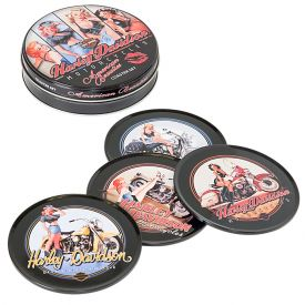 Enlarge Harley-Davidson American Beauty Coaster Set - HDL-18507
