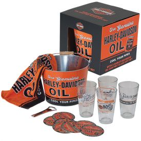 Enlarge Harley-Davidson HDL-18700 - Oil Can Pint Glass Gift Set