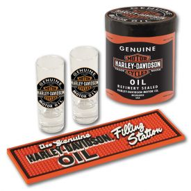 Enlarge Harley-Davidson� HDL-18703 - Oil Can Shot Glass Gift Set