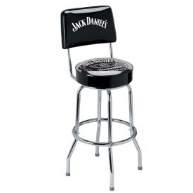 Enlarge Jack Daniel's JD-30190 - Label Bar Stool with Backrest