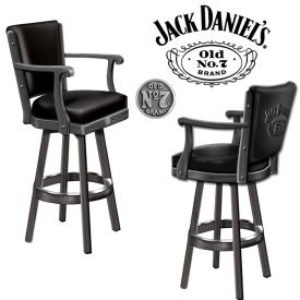 Enlarge Jack Daniel's� JD-33110 - Bar Stool w/ Backrest