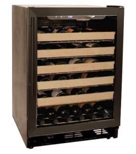 Enlarge Haier HVCE24DBH 50 Bottle Black Built-in Wine Refrigerator