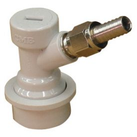 Enlarge Ball Lock Home Brew Keg Tap - Gas In with Male Flare Fitting with Hose Barb