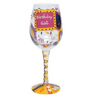 Enlarge Birthday Girl Wine Glass by Lolita Love My Wine Stemware Collection