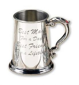 Enlarge Best Man Pewter Beer Tankard