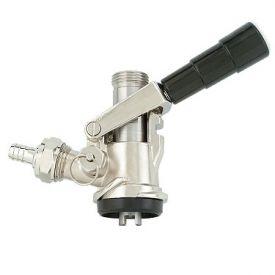 Enlarge Kegco KT86S-L - S System Keg Tap Coupler - Black Lever Handle