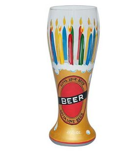 Enlarge Birthday Beer Pilsner Glass by Lolita Gotta Love Beer Collection