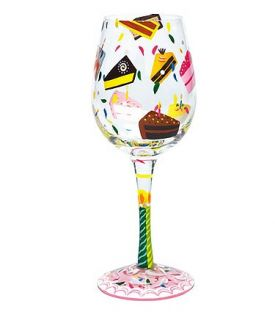 Enlarge Birthday Cake Wine Glass by Lolita Love My Wine Stemware Collection