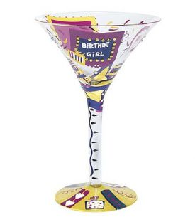 Enlarge Birthday Girl Martini Glass by Lolita Love My Martini