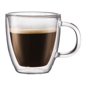 Enlarge Bodum 10602-10 BISTRO 2 Pcs. Double Wall Espresso Mug, 0.15 L.