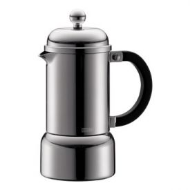 Enlarge Bodum 10616-16 CHAMBORD 3 Cup Chrome Espresso Maker, 0.18 L.