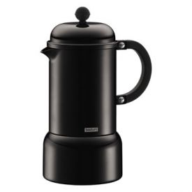 Enlarge Bodum 10617-01 CHAMBORD 6 Cup Black Espresso Maker, 0.35 L.