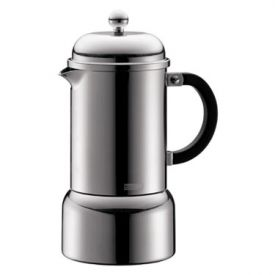 Enlarge Bodum 10617-16 CHAMBORD 6 Cup Chrome Espresso Maker, 0.35 L.