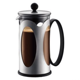 Enlarge Bodum 10701-16 KENYA 8 Cup Stainless Steel Coffee Maker, 1 L.