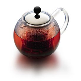 Enlarge Bodum 1830-16 ASSAM 4 Cup Tea Press w/ Glass Handle, 1 L.