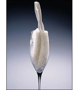 Enlarge Crystal Wine Stemware Washing Brush