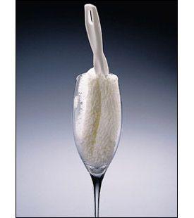 Enlarge Crystal Wine Stemware Washing Brush