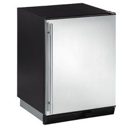 Enlarge U-Line 1000 Series CO1175S-00 Ice Maker/Refrigerator - Black Cabinet with Stainless Steel Door - Right Hinge
