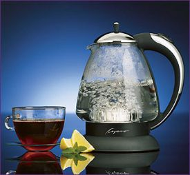 Enlarge Capresso H2O Plus Glass Hot Water Kettle - Chrome