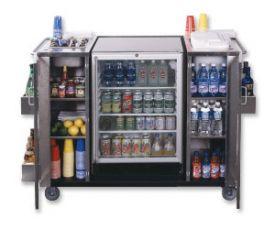 Enlarge Summit CARTOSSCRRC SS Outdoor Serving Cart w/ Refreshment Center