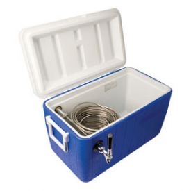 Enlarge CB481B - Single Faucet Jockey Box - 120' Stainless Steel Coil - Blue
