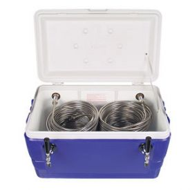 Enlarge CB482 - Double Faucet Jockey Box - 48 Qt., Two 120' SS Coils - Blue