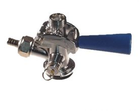 Enlarge CH5000 - D System Keg Coupler by Taprite - Blue Handle