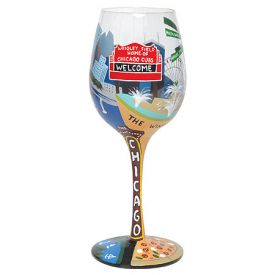 Enlarge Chicago Wine Glass by Lolita Love My Wine Stemware Collection