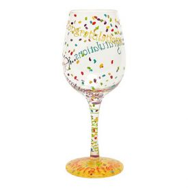 Enlarge Congratulations Wine Glass by Lolita Love My Wine Stemware Collection