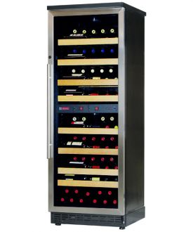 Enlarge Allavino CWR272D-2BS 97 Bottle Dual-Zone Wine Cellar Refrigerator - Black Cabinet with Stainless Steel Door